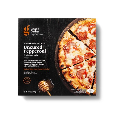 Signature Wood-Fired Uncured Pepperoni with Spicy Honey Drizzle Frozen Pizza - 15oz - Good & Gather™