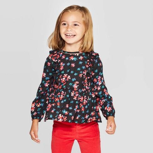 Oshkosh'B'gosh Toddler Girls' Long Sleeve Floral Blouse - image 1 of 3