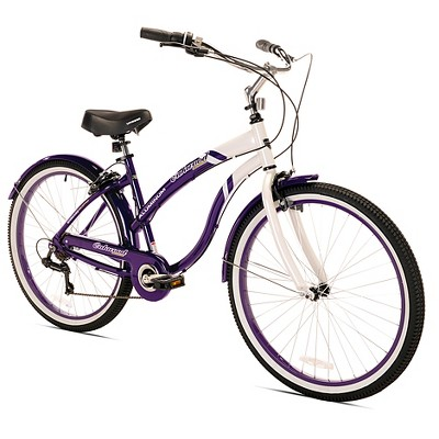 "Kent 26"" Women's Oakwood Cruiser Bike - Purple/White"