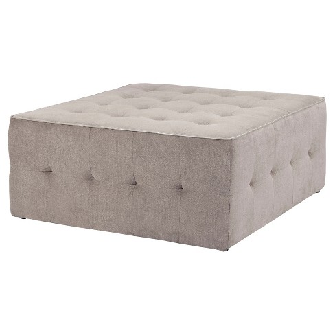 Zeus Oversized Cocktail Ottoman Grey - image 1 of 3