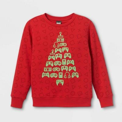 Boys' Console Tree Pullover Sweatshirt - Red
