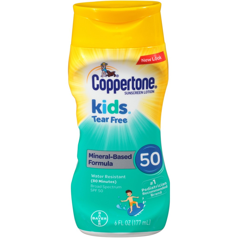Coppertone Kids Tear Free Zinc Sunscreen Lotion - Spf 50 - 6oz