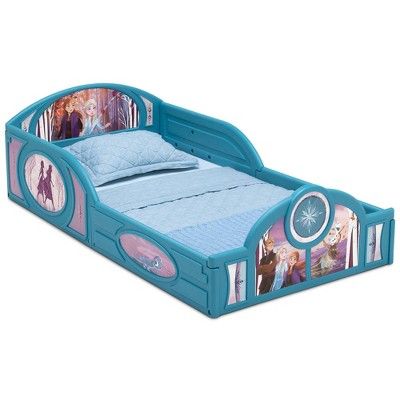 Toddler Disney Frozen 2 Sleep and Play Bed with Attached Guardrails - Delta Children