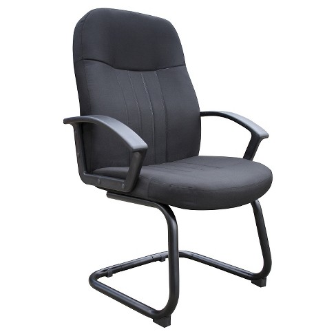 Mid Back Fabric Guest Chair Black - Boss Office Products - image 1 of 1