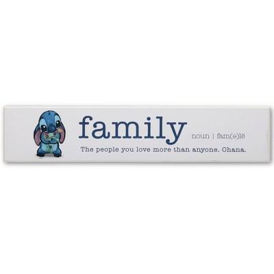 Lilo & Stitch Family Plank Wall Sculpture