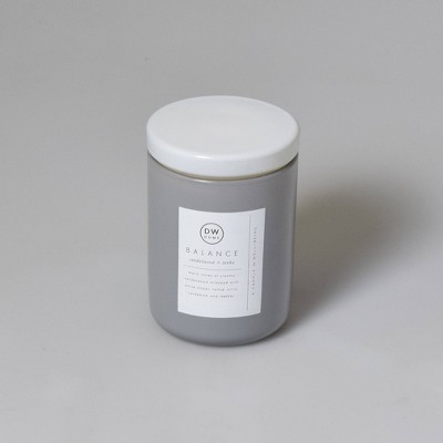 14oz Glass Peony Rose Water and Freesia Candle - DW Home