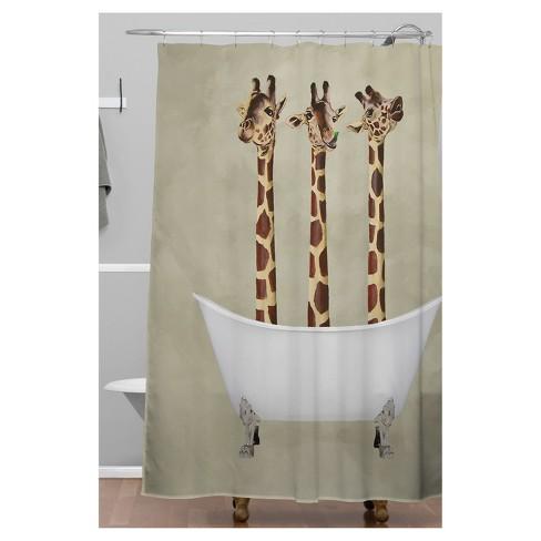 Giraffe Shower Curtain Brown