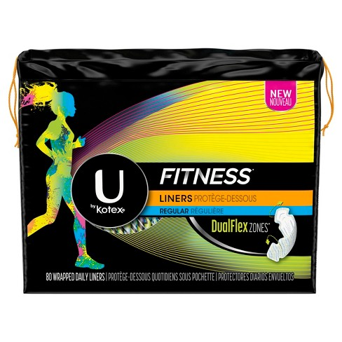 UBK Fitness Liners, Light Absorbency, 80ct - image 1 of 4