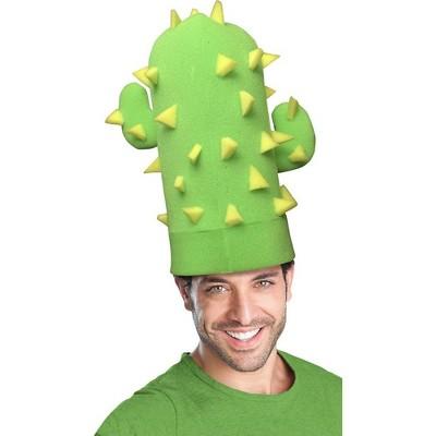 Funky Fresh Green Cactus Adult Foam Costume Hat - One Size
