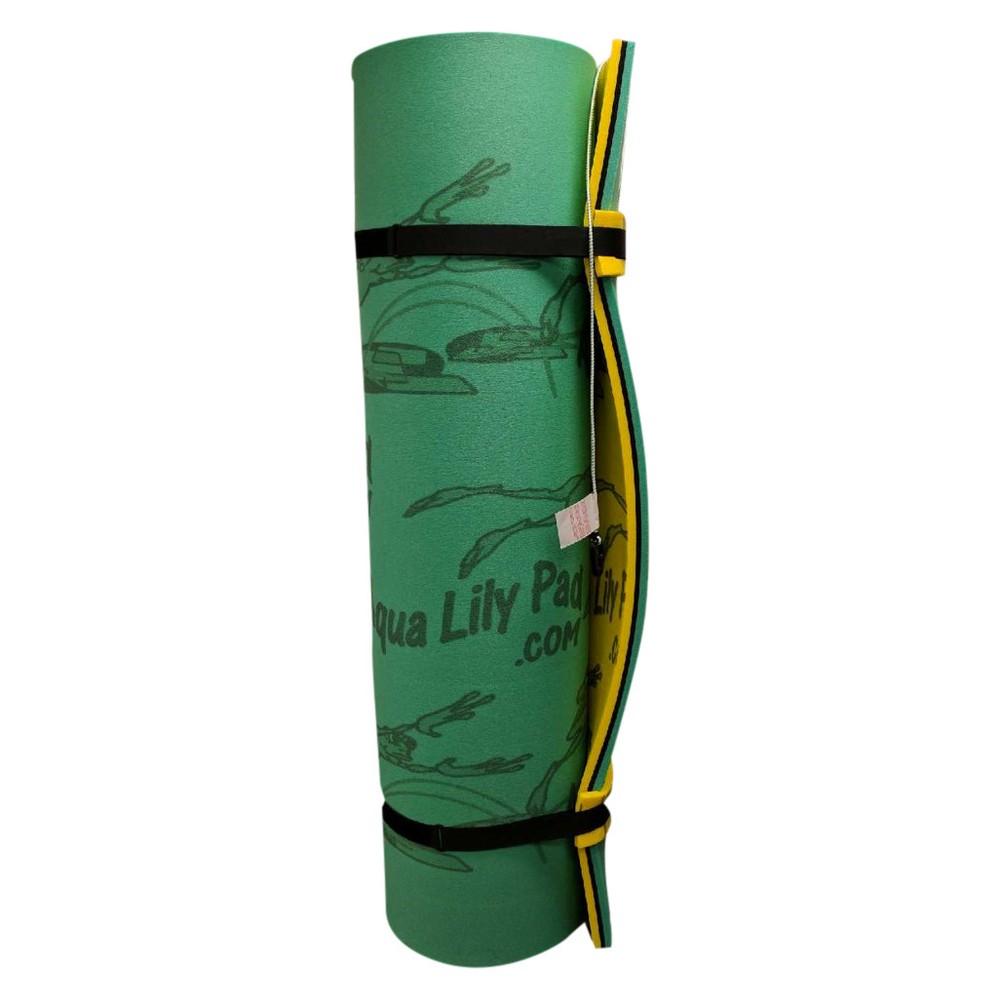 Aqua Lily Bullfrog Foam Water Pad - Yellow/Green, Yellow And Green