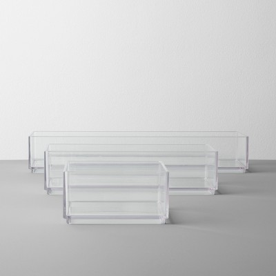 Bathroom Plastic 3 Tray Beauty Organizer Set Clear - Made By Design™