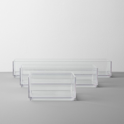 Bathroom Plastic 3 Tray Beauty Organizer Set Clear - Made By Design™ - image 1 of 2