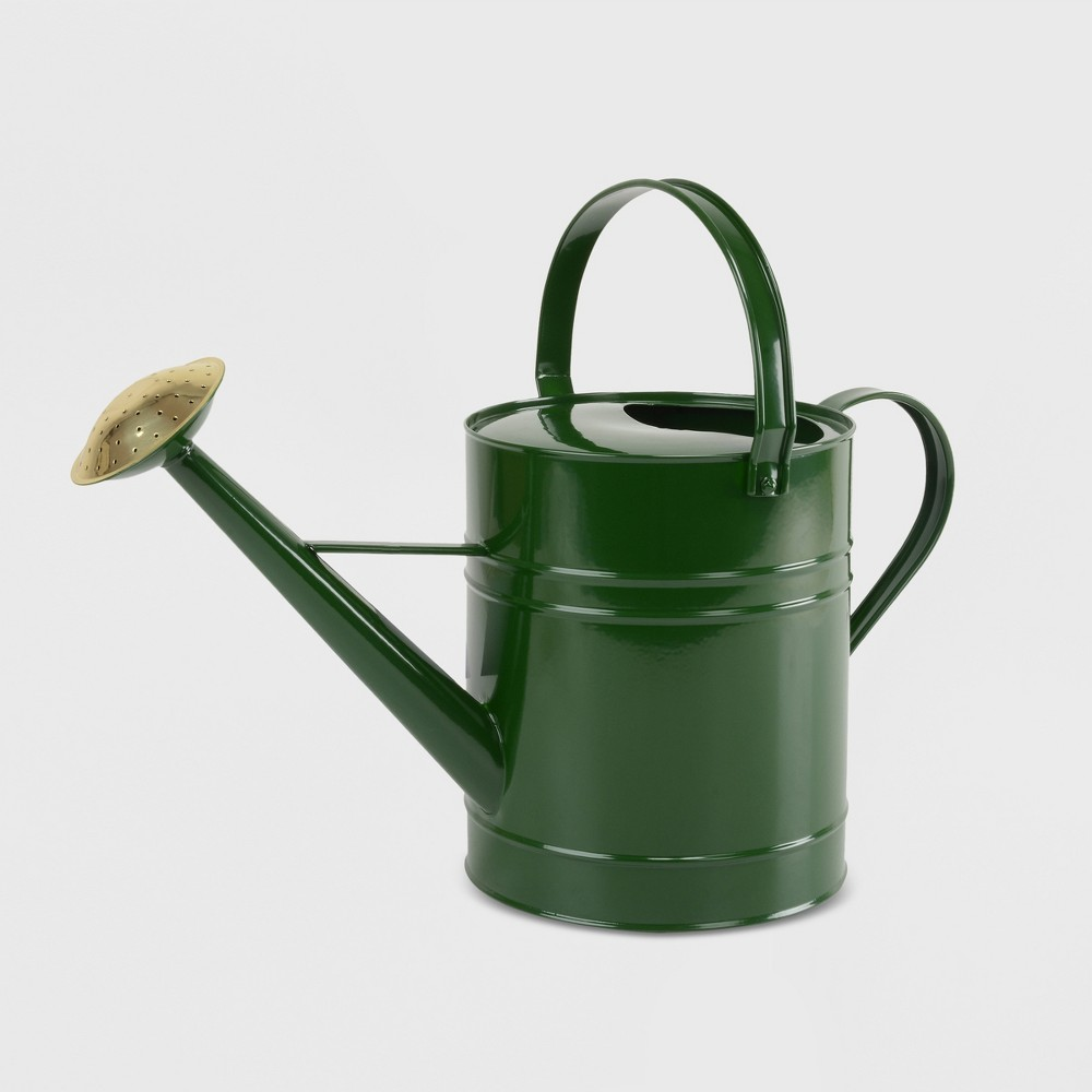"""Image of """"12"""""""" Watering Metal Can Green - Smith & Hawken"""""""