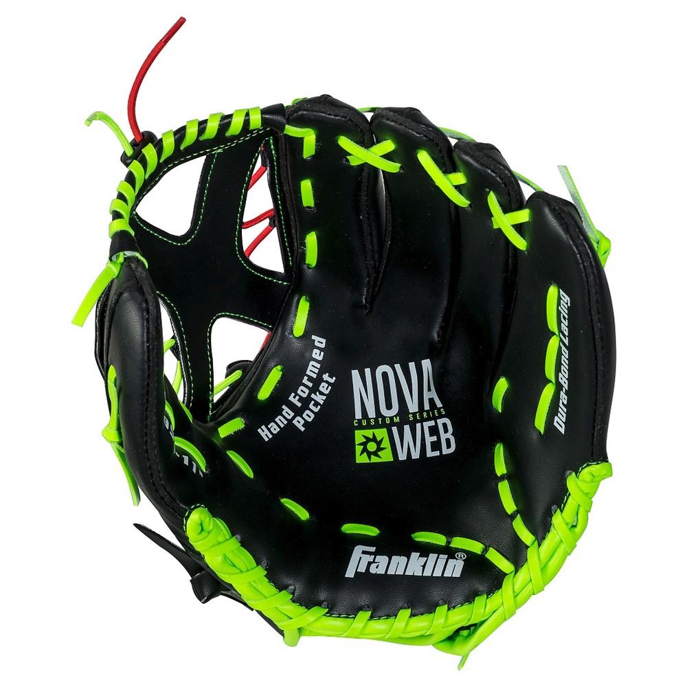 Franklin Sports 11 Novaweb Custom Series Baseball Glove-Left Hand Thrower, Black