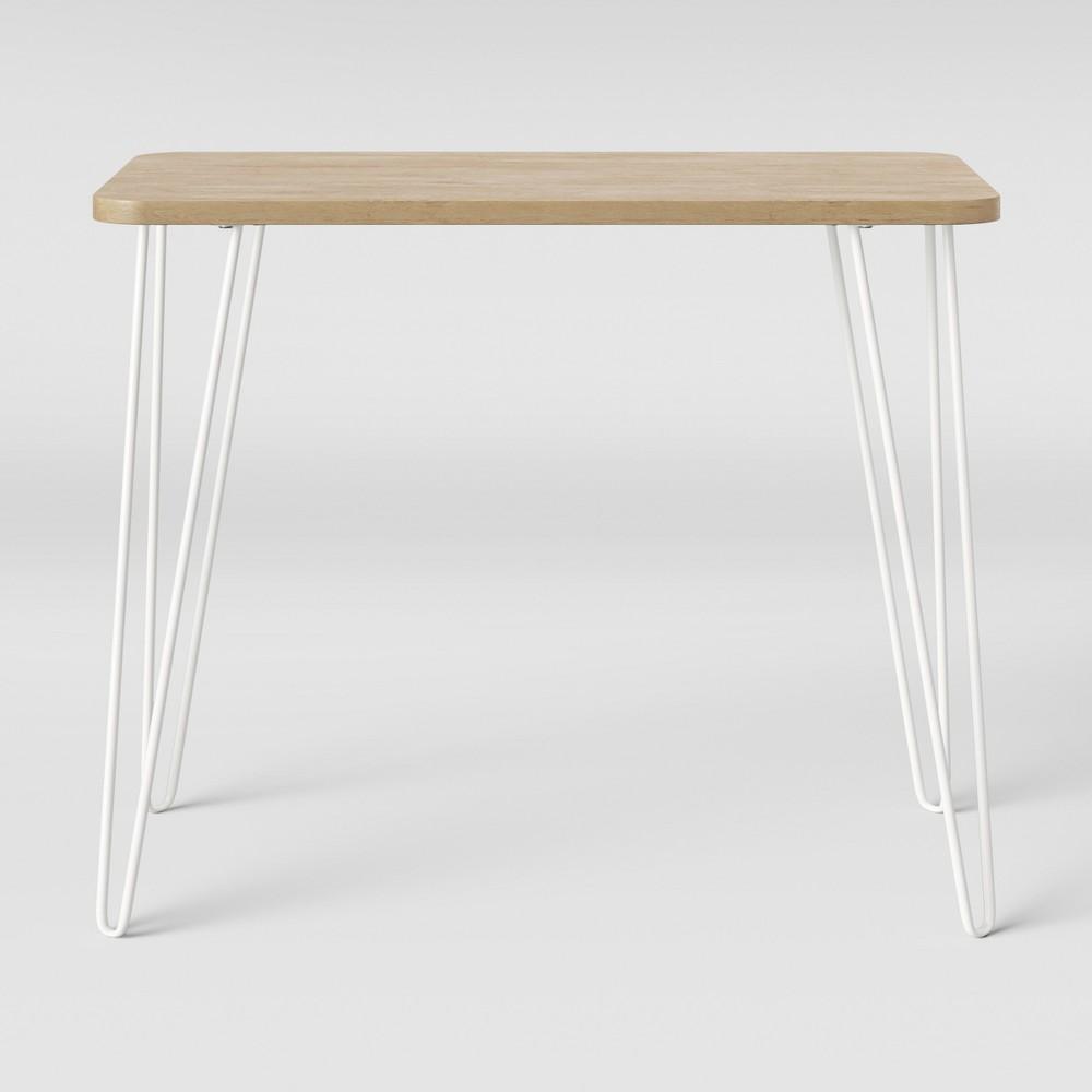 Image of Landry Kids Hairpin Desk Natural/White - Pillowfort