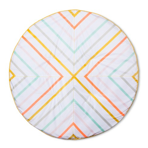Activity Circle Playmat Stripes - Cloud Island™ Wheat Valley - image 1 of 2