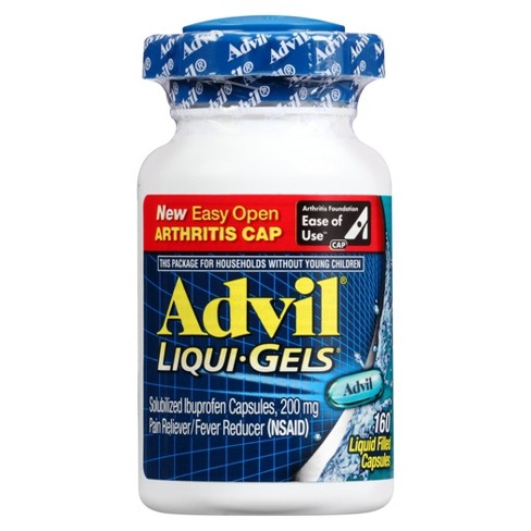 Advil Easy Open Cap Pain Reliever/Fever Reducer Capsules - Ibuprofen (NSAID) - 160ct - image 1 of 3