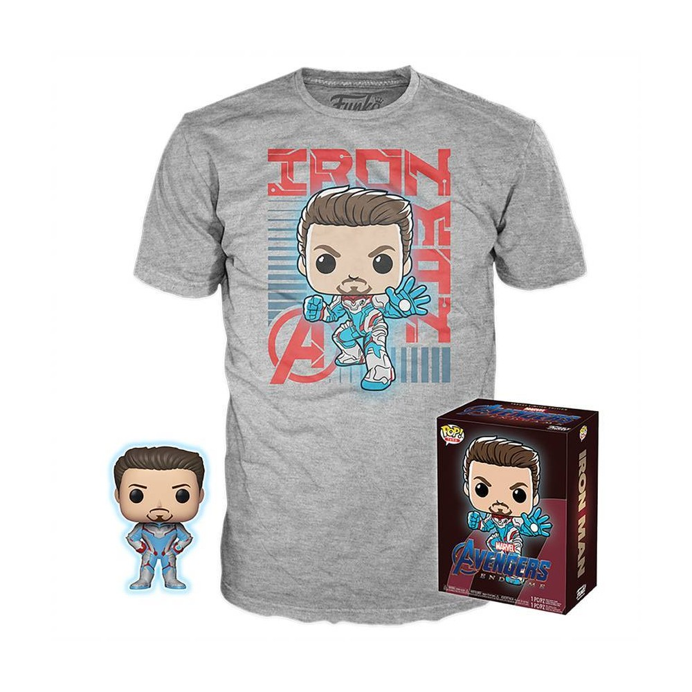 Image of Funko POP! & Tee Collectors Box Marvel: Avengers: Endgame - Iron Man - XXL (Target Exclusive)
