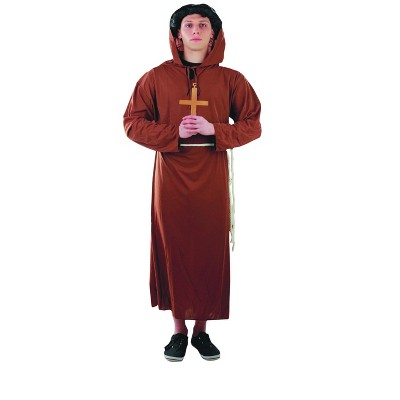 Northlight Brown Monk's Hooded Robe Teen Halloween Costume - Medium