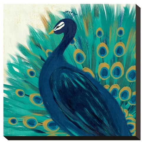 Proud As A Peacock Ii By Veronique Charron Stretched Canvas Print - image 1 of 2