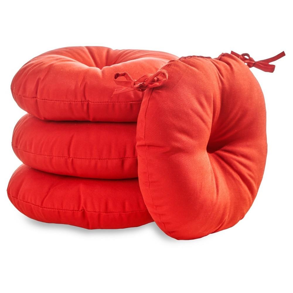 "Image of ""4pk 18"""" Solid Outdoor Bistro Chair Cushions - Salsa - Kensington Garden"""