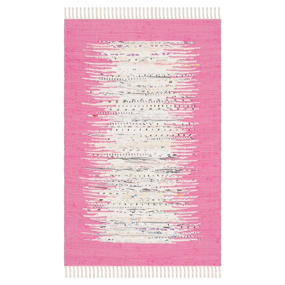 Bettina Flatweave Accent Rug Ivory Pink 2 39 6 34 X 4 39 Safavieh