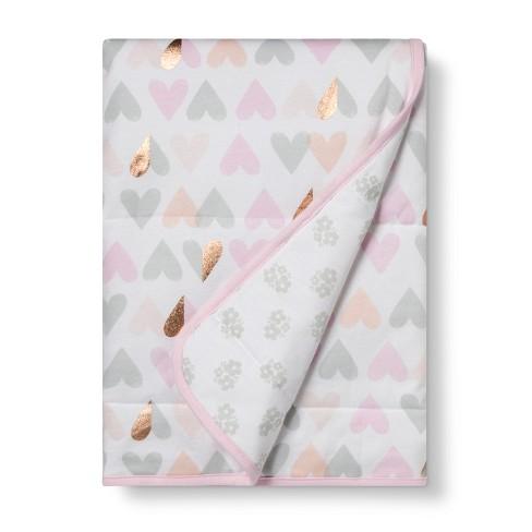 Jersey Knit Baby Blanket Blush - Cloud Island™ Pink Lemonade - image 1 of 2