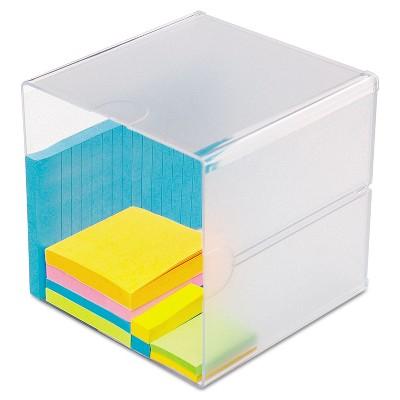 Deflecto Desk Cube Clear Plastic 6 x 6 x 6 350401