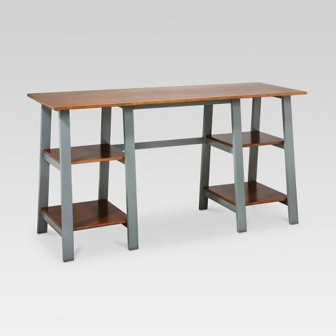Double Trestle Desk - Threshold™ - Double Trestle Desk - Threshold™ : Target