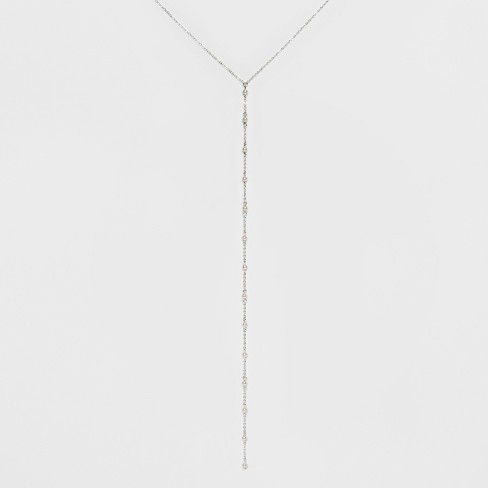 Beads Long Necklace - A New Day™ Silver - image 1 of 3