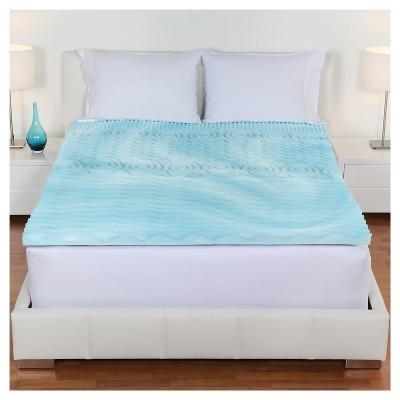 "3"" Orthopedic 5-Zone Foam Mattress Topper (King)Blue - Authentic Comforter"