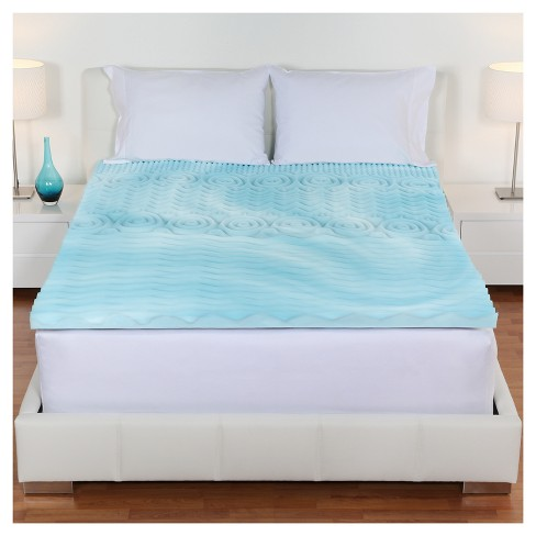 Twin Size 2 Inch Memory Foam Mattress Topper Authentic Comfort Orthopedic Bed