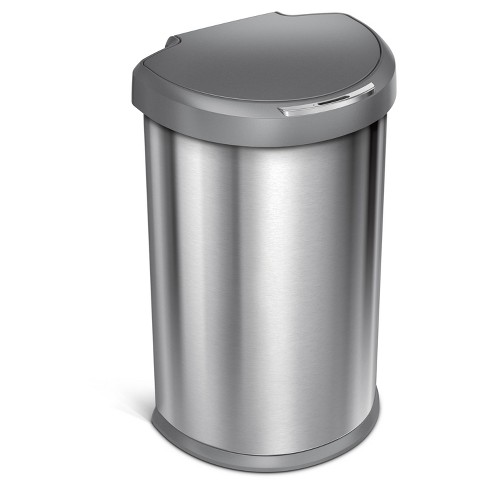 Touch Bin 45 Liter.Simplehuman Studio 45 Liter Semi Round Sensor Trash Can Stainless