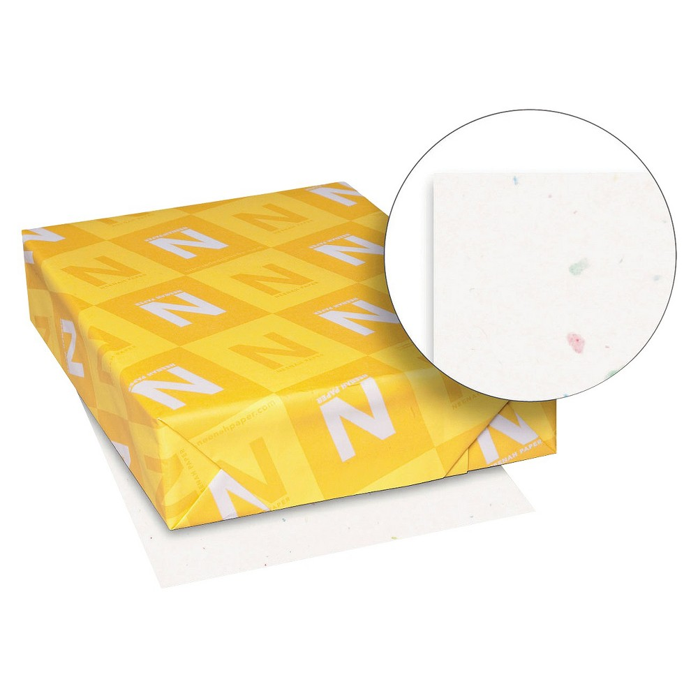 Neenah Paper Astrobrights Colored Card Stock, 65 lbs - White (250 Sheets Per Ream)