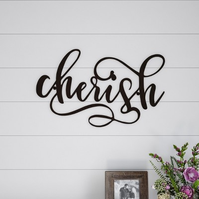 Cherish  Decorative Wall Sign Natures Brown - Lavish Home