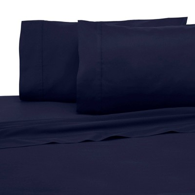 King 300 Thread Count Solid Sheet Set Evening Blue Modern Living Target