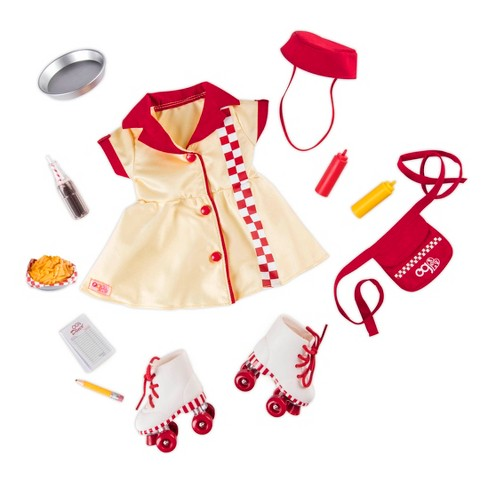 "Our Generation Retro Waitress Outfit for 18"" Dolls - Today's Special - image 1 of 3"