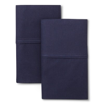Ultra Soft Pillow Case Set Standard (King)Navy 300 Thread Count - Threshold™