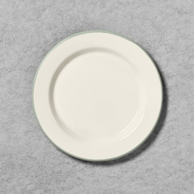 Enamelware Salad Plate Sour Cream with Silver Rim - Hearth & Hand™ with Magnolia