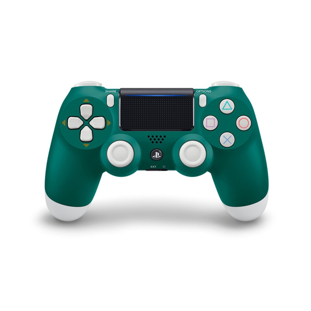 DualShock 4 Wireless Controller for PlayStation 4 - Alpine Green Refresh your set up this spring with this contrasting green and white wireless controller. Play in style with the new Alpine Green edition of the DUALSHOCK4 wireless controller. Pattern: Solid.