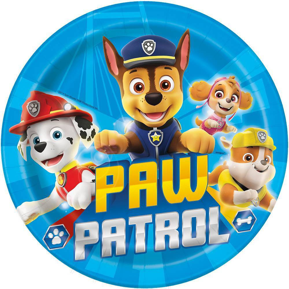 Paw Patrol 9 34 8ct Party Plates