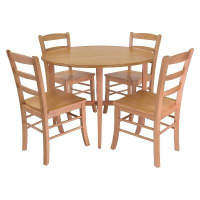 Genial Hannah Double Drop Leaf Table Wood/Light Oak   Winsome : Target