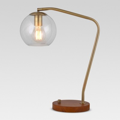 Madrot Glass Globe Desk Lamp Brass Includes Energy Efficient Light Bulb - Project 62™