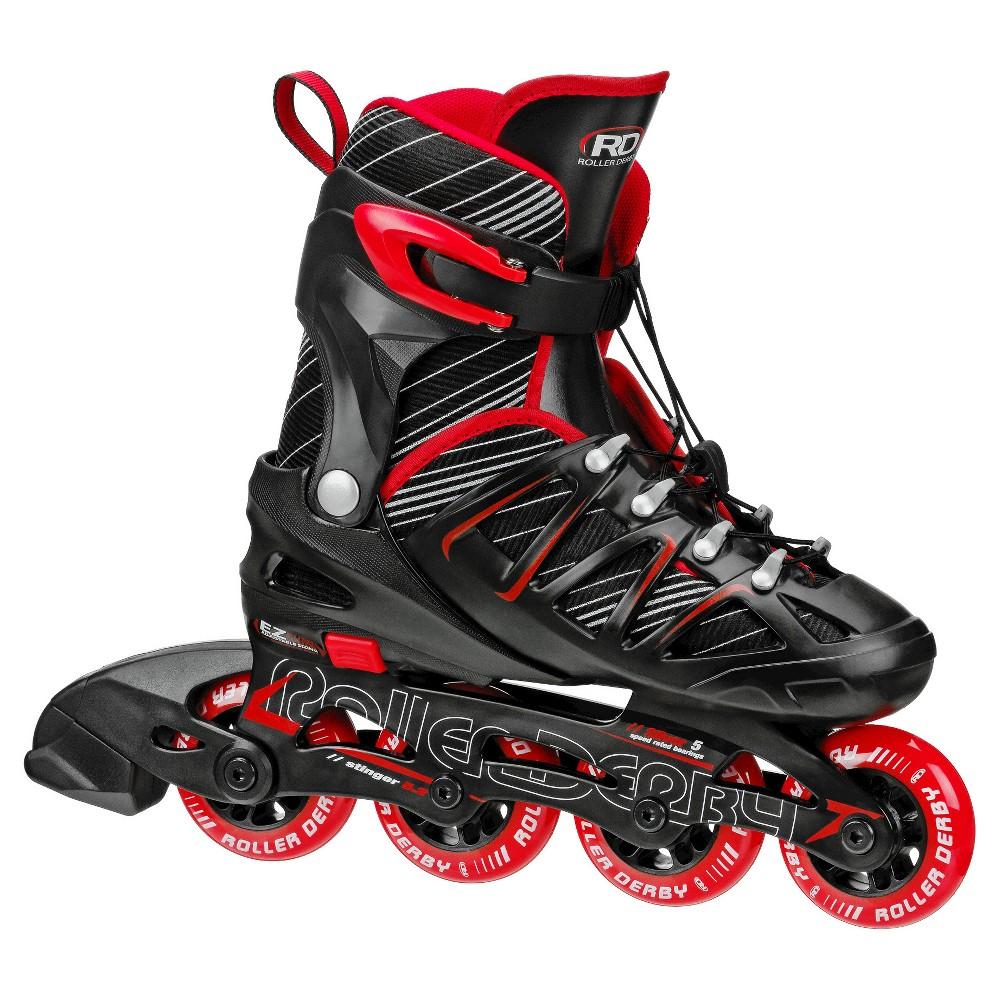 Roller Derby Kids' Stinger 5.2 Adjustable Inline Skates - Black/Red M (2-5), Black Red