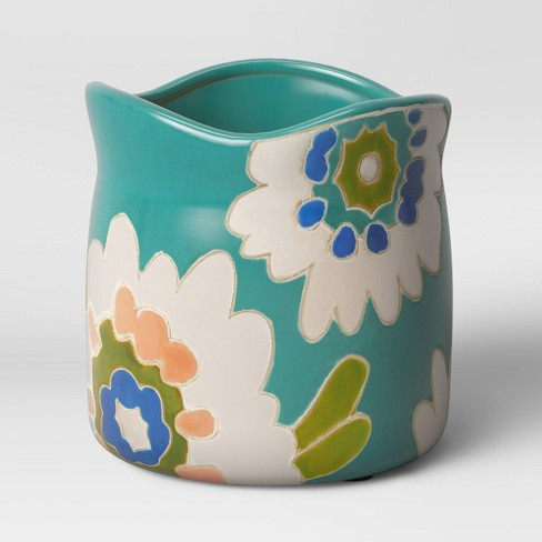 """6"""" Earthenware Planter Floral - Opalhouse™ - image 1 of 3"""
