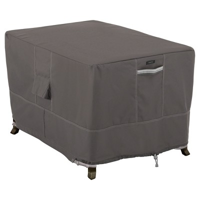 Ravenna Rectangular Fire Pit Table Cover - Dark Taupe - Classic Accessories