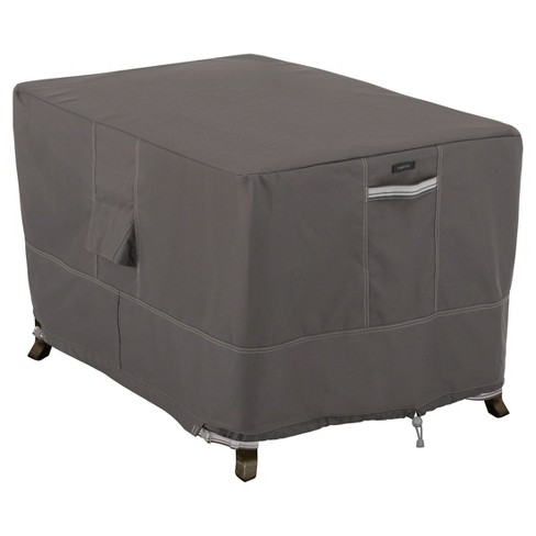 Ravenna Rectangular Fire Pit Table Cover - Dark Taupe - Classic Accessories - image 1 of 4