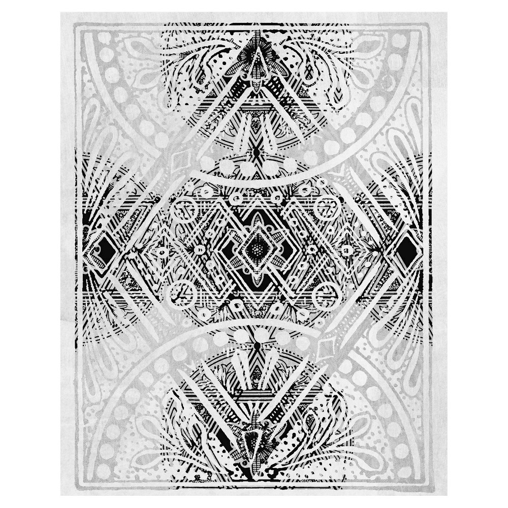 Belgian Lace IV Unframed Wall Canvas Art -(24X30), Multi-Colored