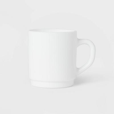 10oz 6pk Glass Mugs White - Made By Design™