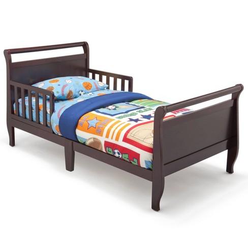 Sleigh Toddler Bed Black Cherry - Delta Children - image 1 of 4